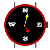 Clock with orientation — Stock Vector