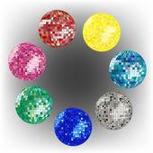 Disco ball collection 2 — Stock Vector