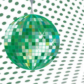 Discoball green — Stock Vector