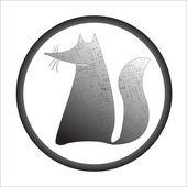 Fox stamp — Stock Vector