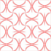 Geometric arcs pattern isolated on white — Stock Vector