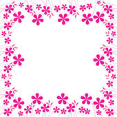 Pink flowers foliage 2 — Stock Vector