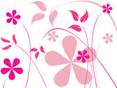 Pink flowers — Vector de stock