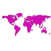 Purple world map — Stock Vector