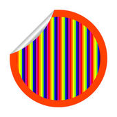 Rainbow stripes sticker isolated on whit — Stock Vector