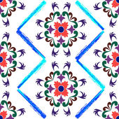 Retro seamless floral pattern 2 — Stock Vector