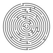 Kruhové bludiště — Stock vektor