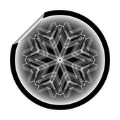 Snow flake sticker isolated on white bac — Stock Vector