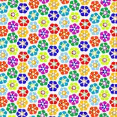 Strange flowers pattern — Stock Vector