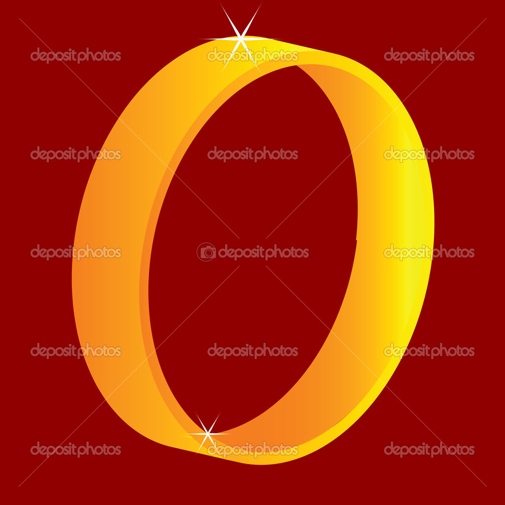 Golden ring, vector art illustration; more drawings in my gallery — Stock Vector #1245601