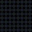 Royalty-Free Stock Vektorgrafik: White and blue seamless pattern on black