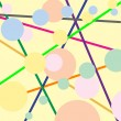 Royalty-Free Stock Vectorafbeeldingen: Stripes and bubbles