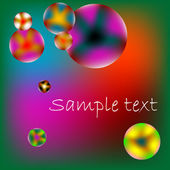 Stylized bubbles with space for text — Stock Vector