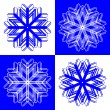 Stock Vector: Snow flakes 2