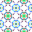 Stock Vector: Seamless floral pattern 4