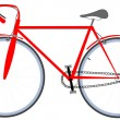 Royalty-Free Stock Imagem Vetorial: Red bicycle
