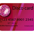 Credit card disco purple — Stock Vector #1478298