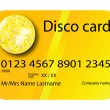 Credit card disco yellow — Stock Vector #1478302