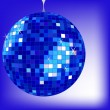 Disco ball blue - Stock Vector