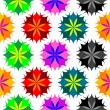 Colored flowers seamless pattern 2 — Stock Vector