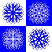 Sněhové vločky 2 — Stock vektor