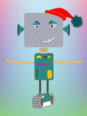 Robot asking for a hug — Stock Vector
