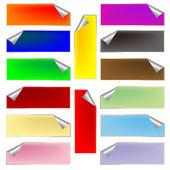 Fresh rectangular labels — Stock Vector