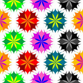 Colored flowers seamless pattern 2 — Vettoriale Stock