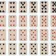 Royalty-Free Stock 矢量图片: Complete set of kids playing cards