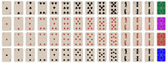 Complete set of kids playing cards — Vetor de Stock
