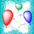 Royalty-Free Stock Vektorfiler: Happy valentine ballons