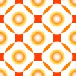Orange circles seamless pattern — Stock Vector