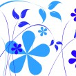 Stock Vector: Blue flowers
