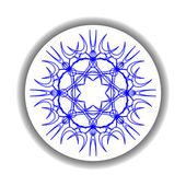 Snow flake medallion 2 — Stock Vector