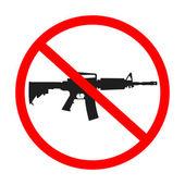 No guns allowed — Stock Vector