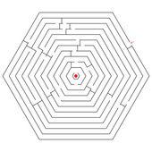 Hexagonal black maze — Stock Vector