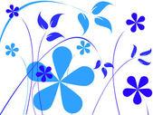 Flores de color azul — Vector de stock