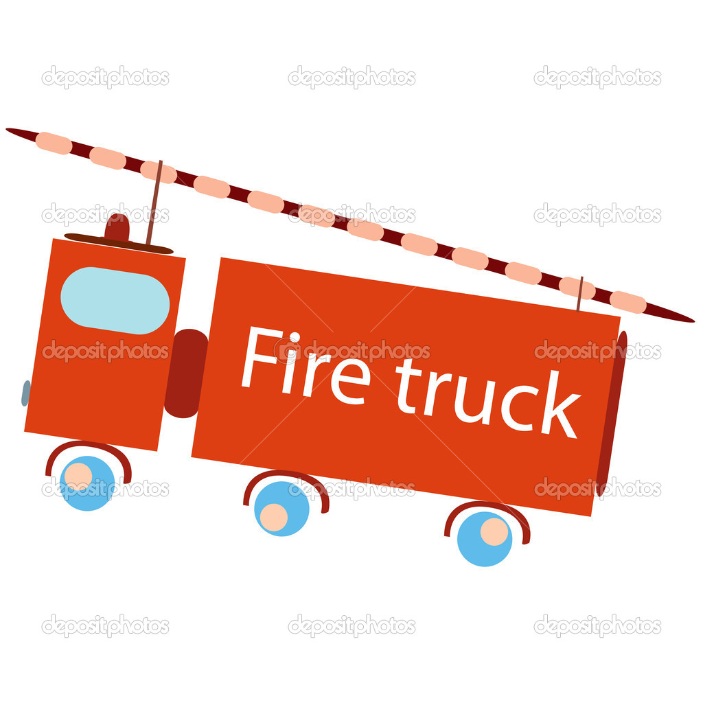 Fire truck, vector art illustration — Stock Vector #1588503