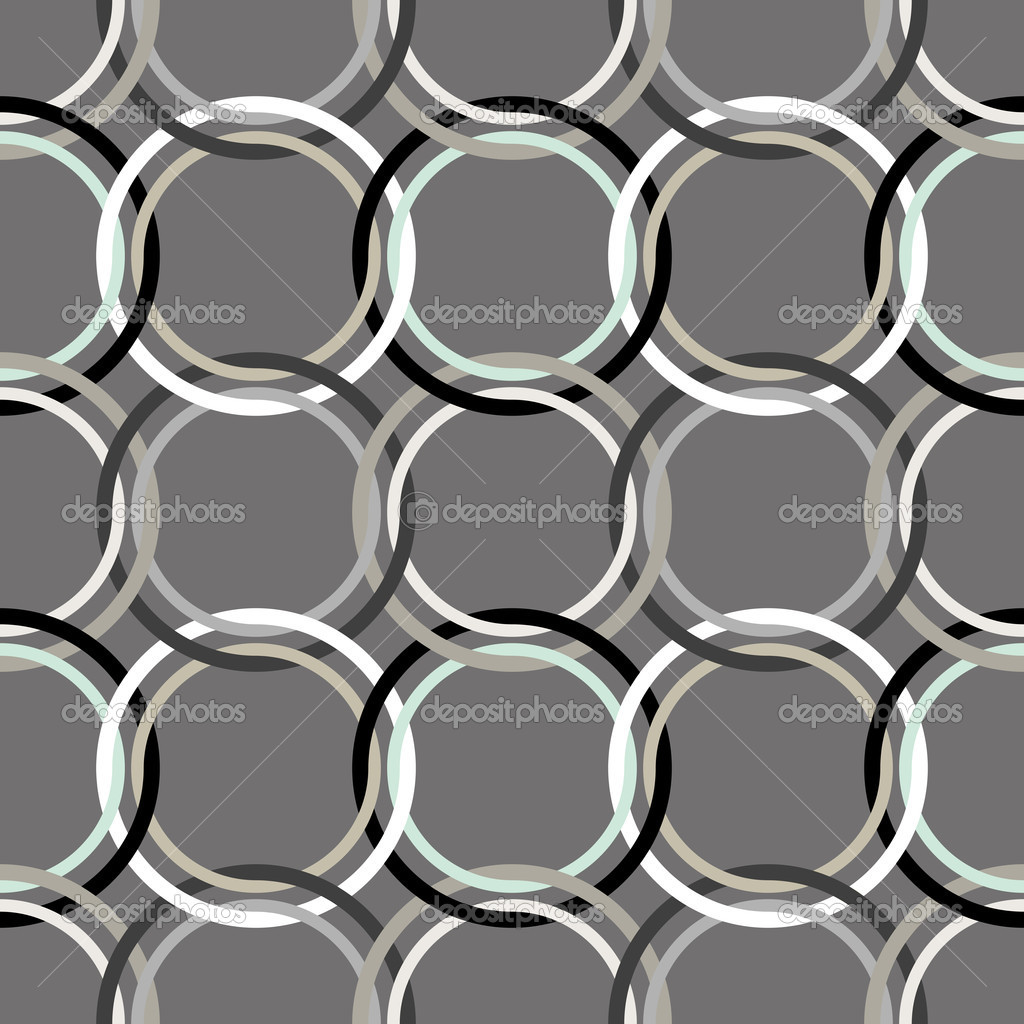 Circles seamless pattern, abstract art illustration — Stock Vector #1588798