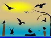 Birds paradise — Stock Vector