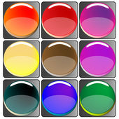 Glossy colored web buttons collection — Stock Vector