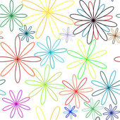 Colored flowers seamless pattern — Stock Vector
