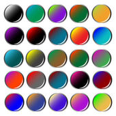 Round colored web buttons — Stock Vector