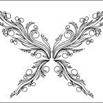 borboleta abstrata — Vetorial Stock