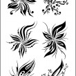 Vector floral set - Image vectorielle