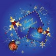 Royalty-Free Stock Vector Image: Blue Christmas background, vector illust