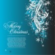 Blue vector christmas background — 图库矢量图片