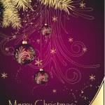 Christmas background, vector illustratio — Stock Vector