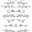 Vector set of lines - Stock Vector