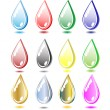 Royalty-Free Stock Vector Image: Set of colour drops